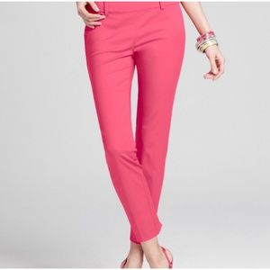 Ann Taylor Cropped Pant in Pink